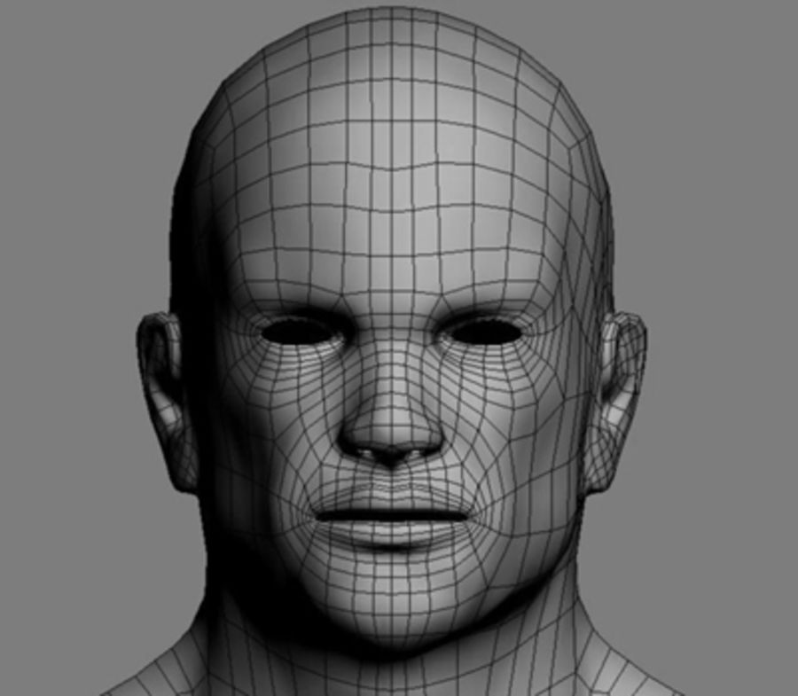 Homme athlétique + cartes normales royalty-free 3d model - Preview no. 8