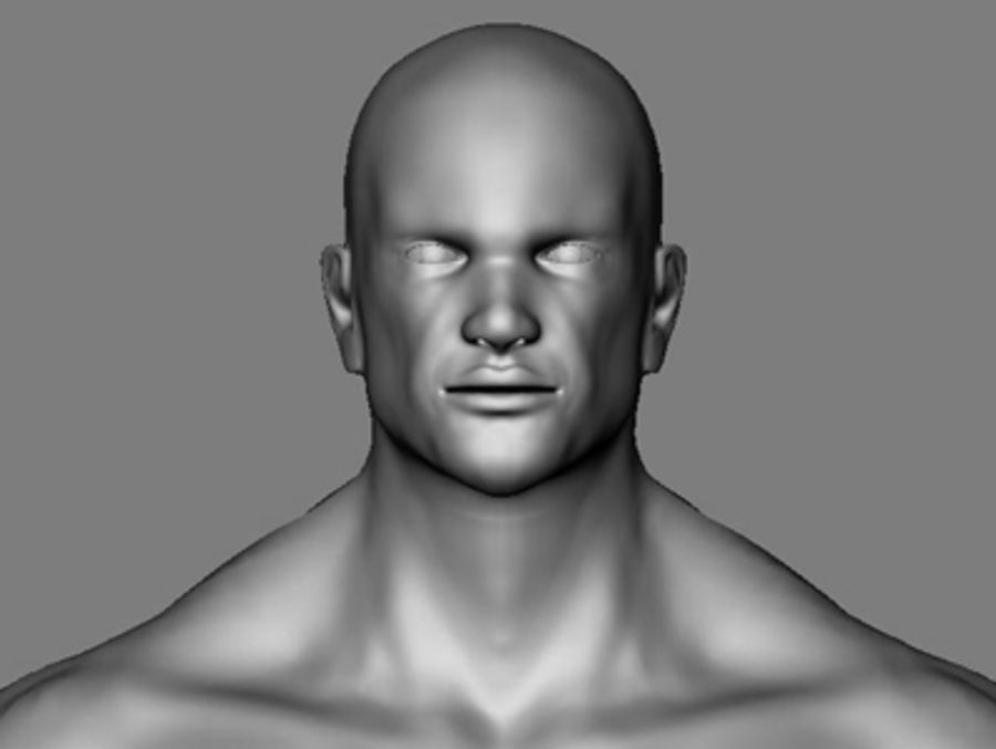 Homme athlétique + cartes normales royalty-free 3d model - Preview no. 12