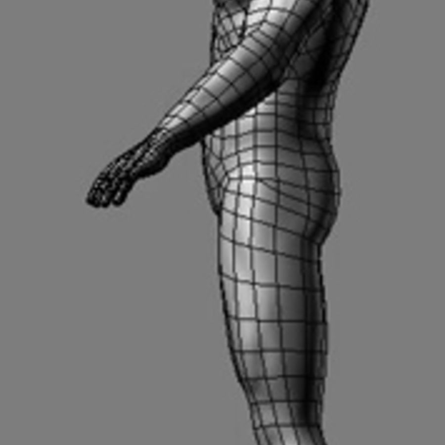 Homme athlétique + cartes normales royalty-free 3d model - Preview no. 6