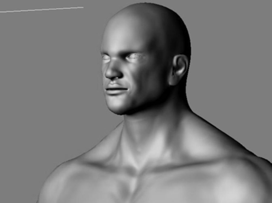 Homme athlétique + cartes normales royalty-free 3d model - Preview no. 13