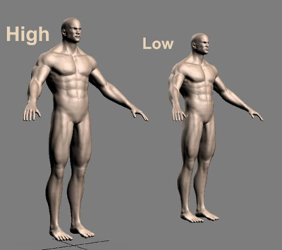 Homme athlétique + cartes normales royalty-free 3d model - Preview no. 15