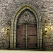 Medieval doors 3d model 3d model
