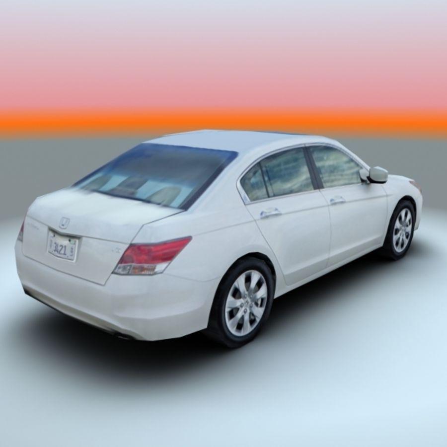 2008 년 혼다 어코드 EX-L royalty-free 3d model - Preview no. 3