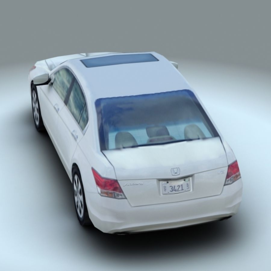 2008 년 혼다 어코드 EX-L royalty-free 3d model - Preview no. 5