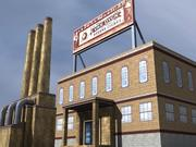Endüstriyel Fabrika Düşük Etki 3d model
