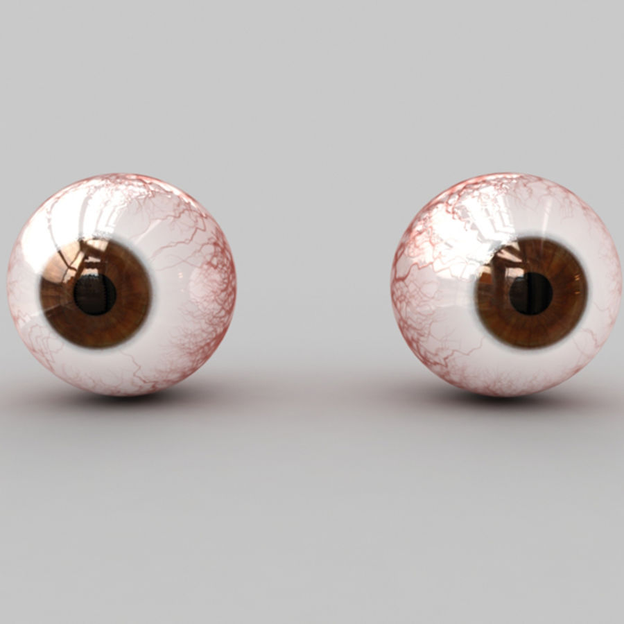 Boules oculaires royalty-free 3d model - Preview no. 2