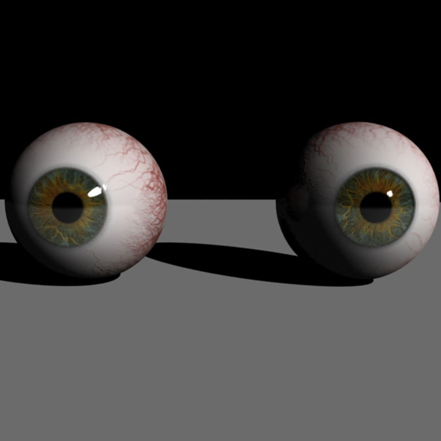 Boules oculaires royalty-free 3d model - Preview no. 9
