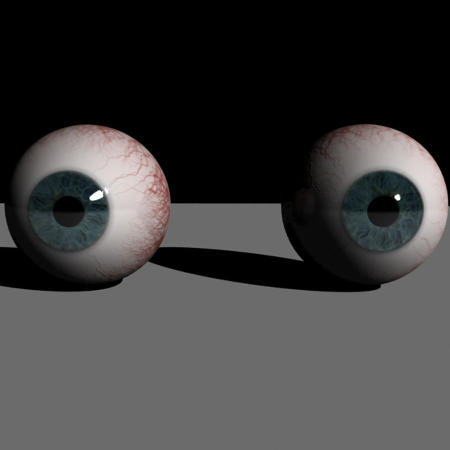 Boules oculaires royalty-free 3d model - Preview no. 3