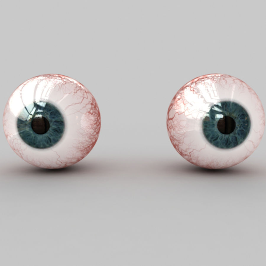 Boules oculaires royalty-free 3d model - Preview no. 1