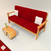 木托盘沙发 3d model