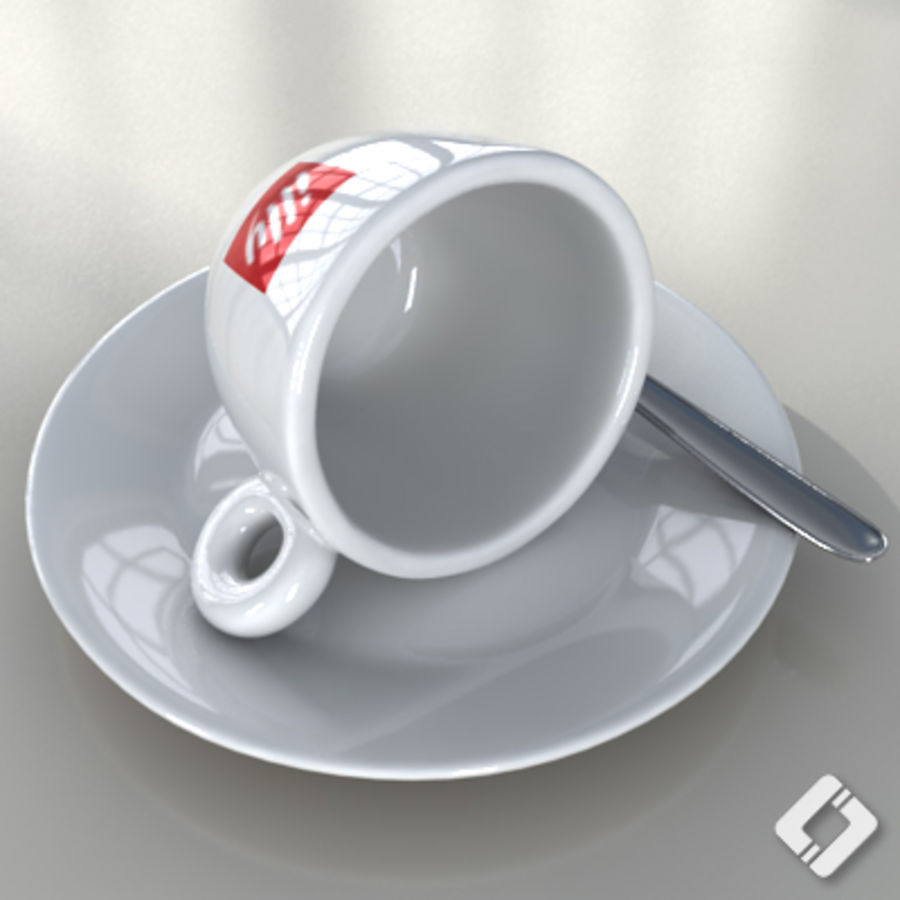 illy coffee cup royalty-free 3d model - Preview no. 4