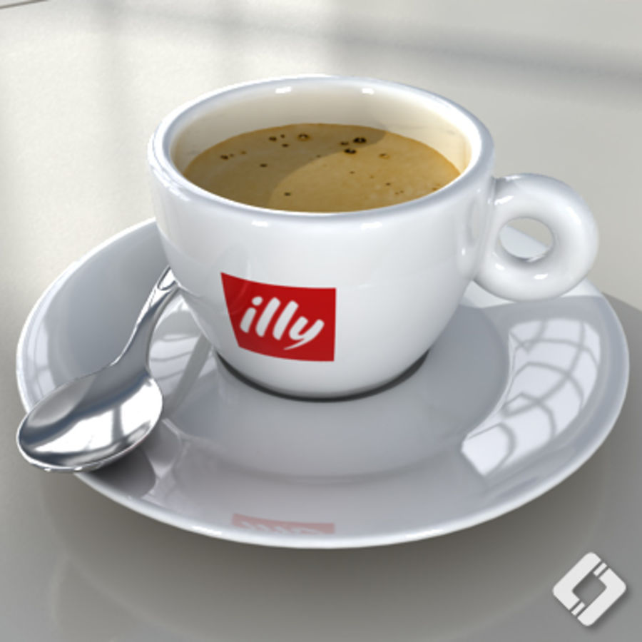 illy coffee cup royalty-free 3d model - Preview no. 1
