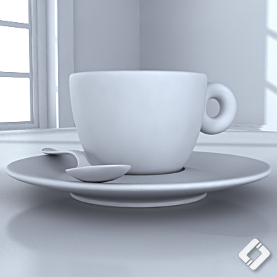 illy coffee cup royalty-free 3d model - Preview no. 5