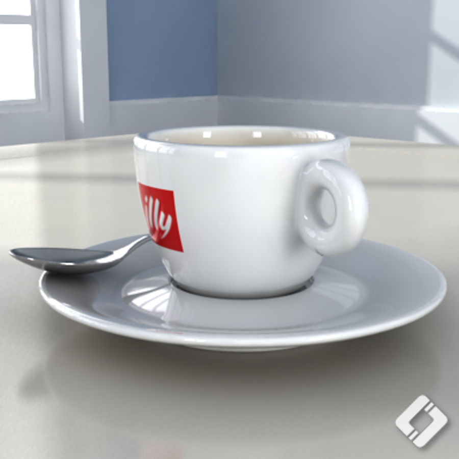 illy coffee cup royalty-free 3d model - Preview no. 3