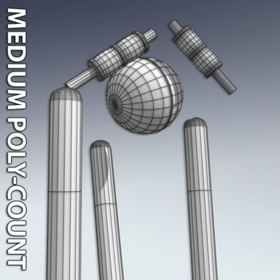Cricket Ball and Wicket 3D Model $8 -  xsi  obj  max  lwo