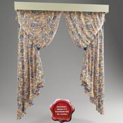 Italian curtain 3d model