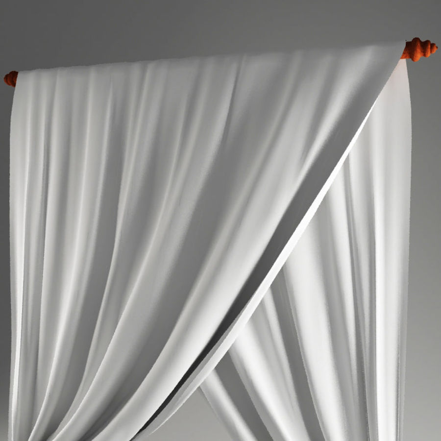 Crossed curtain royalty-free 3d model - Preview no. 4