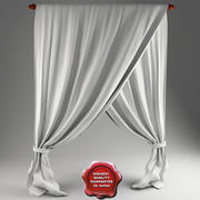 Crossed curtain 3d model