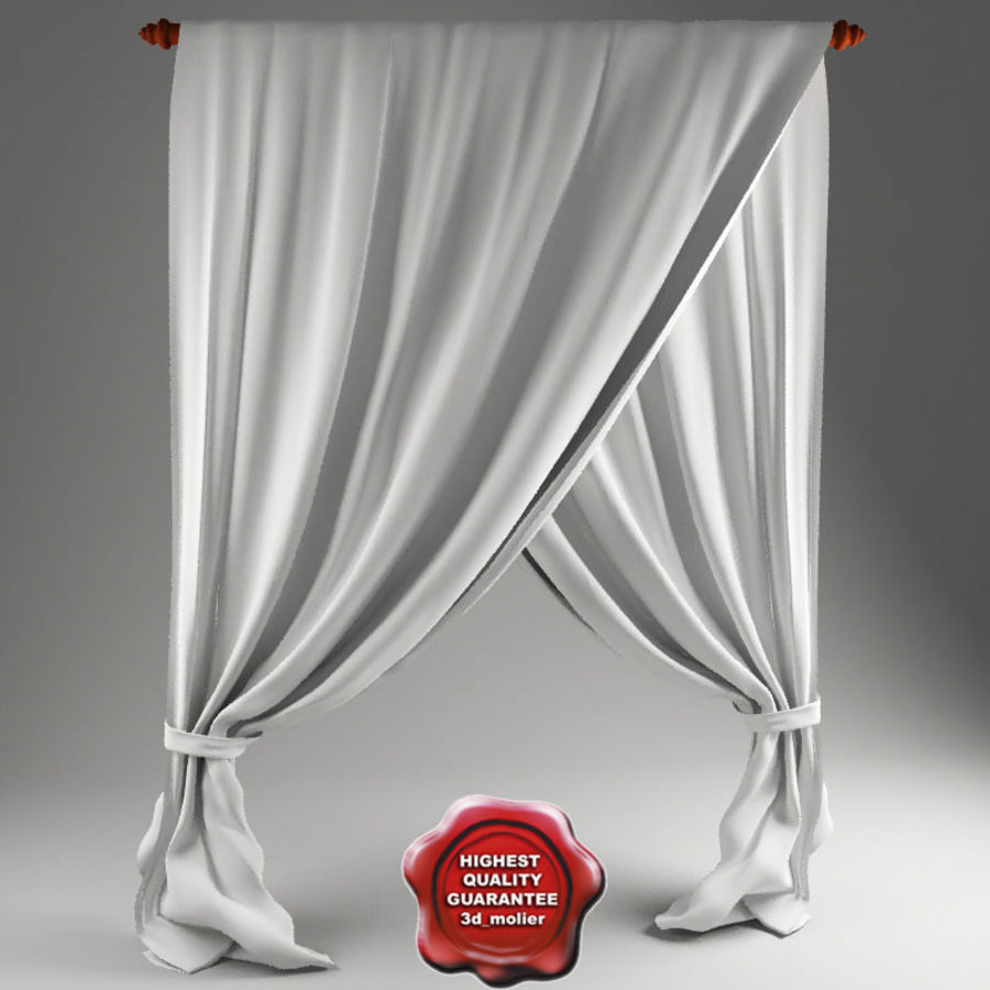 Crossed curtain royalty-free 3d model - Preview no. 1