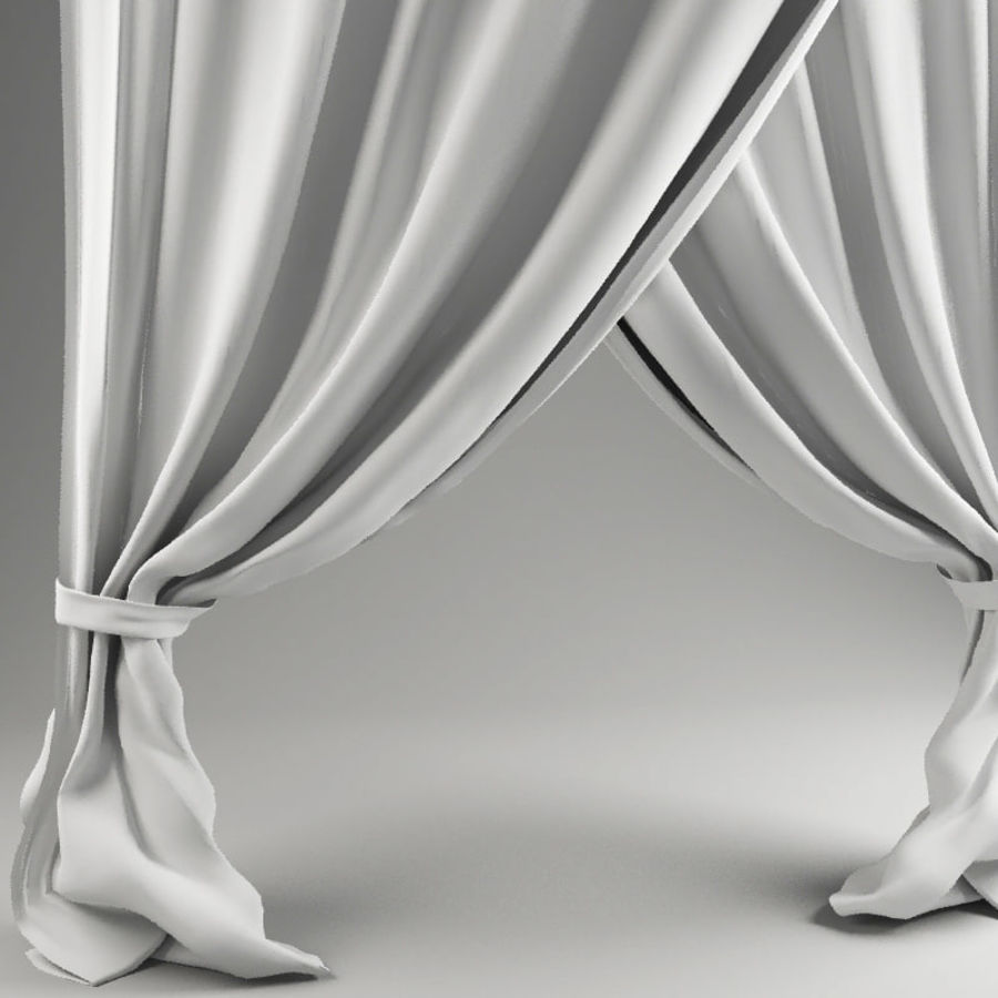 Crossed curtain royalty-free 3d model - Preview no. 2