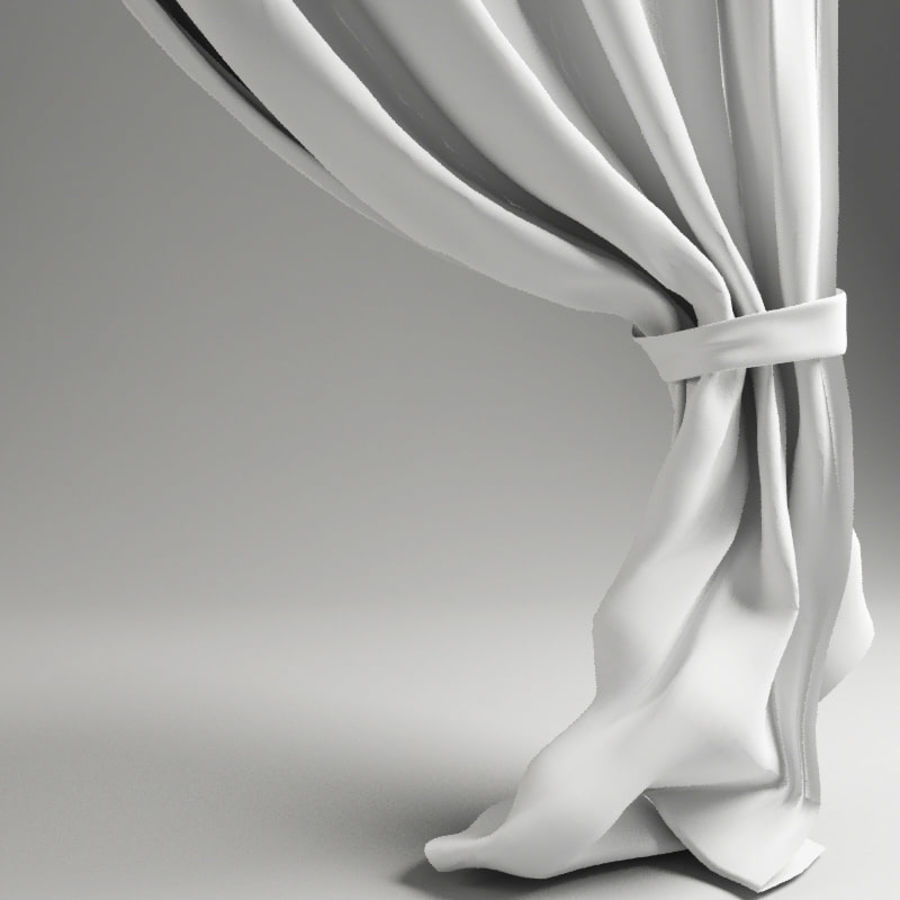 Crossed curtain royalty-free 3d model - Preview no. 3