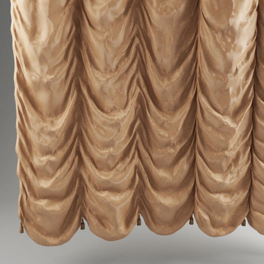 French curtain royalty-free 3d model - Preview no. 3