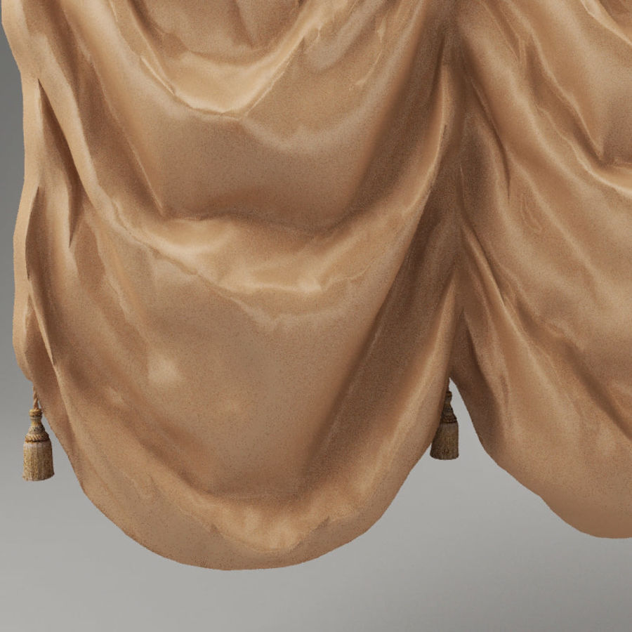 French curtain royalty-free 3d model - Preview no. 5