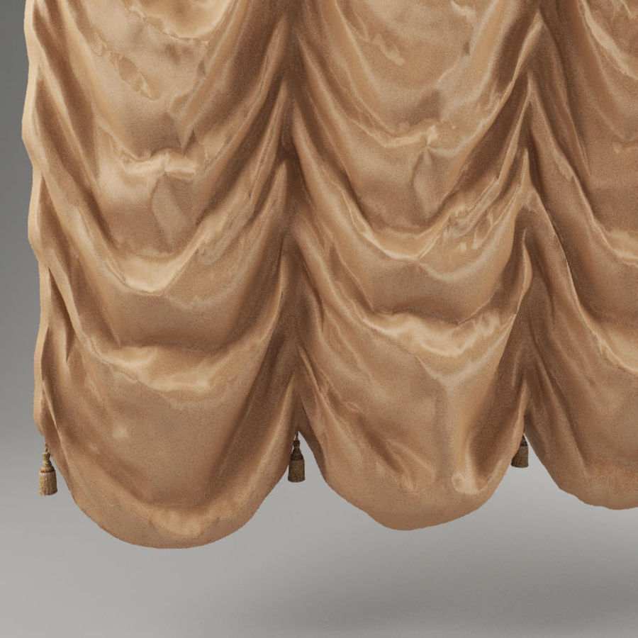 French curtain royalty-free 3d model - Preview no. 4