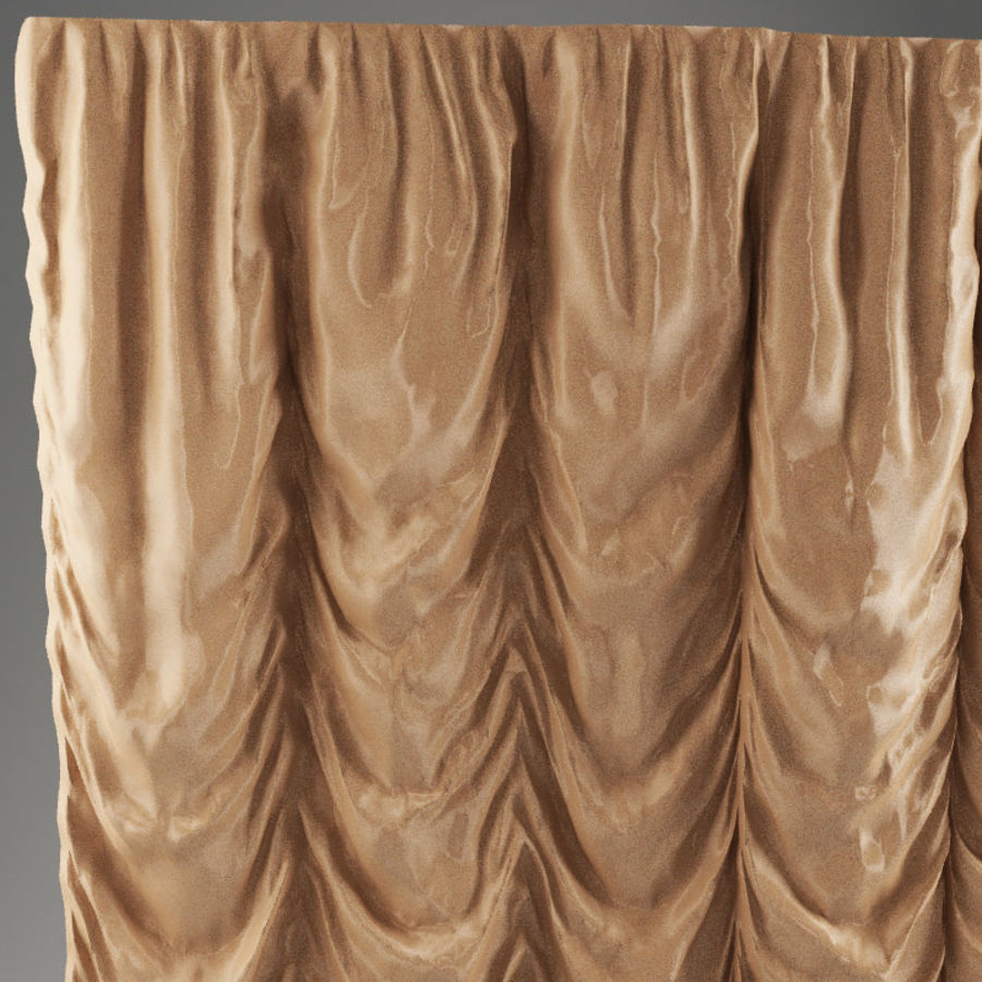 French curtain royalty-free 3d model - Preview no. 2