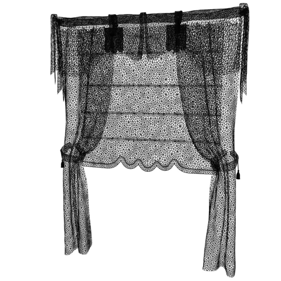 Roman curtain V1 royalty-free 3d model - Preview no. 6