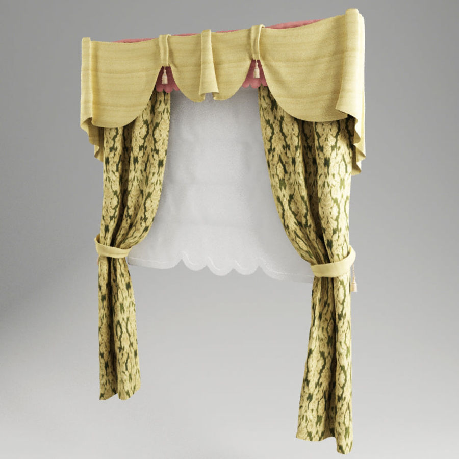 Roman curtain V1 royalty-free 3d model - Preview no. 2