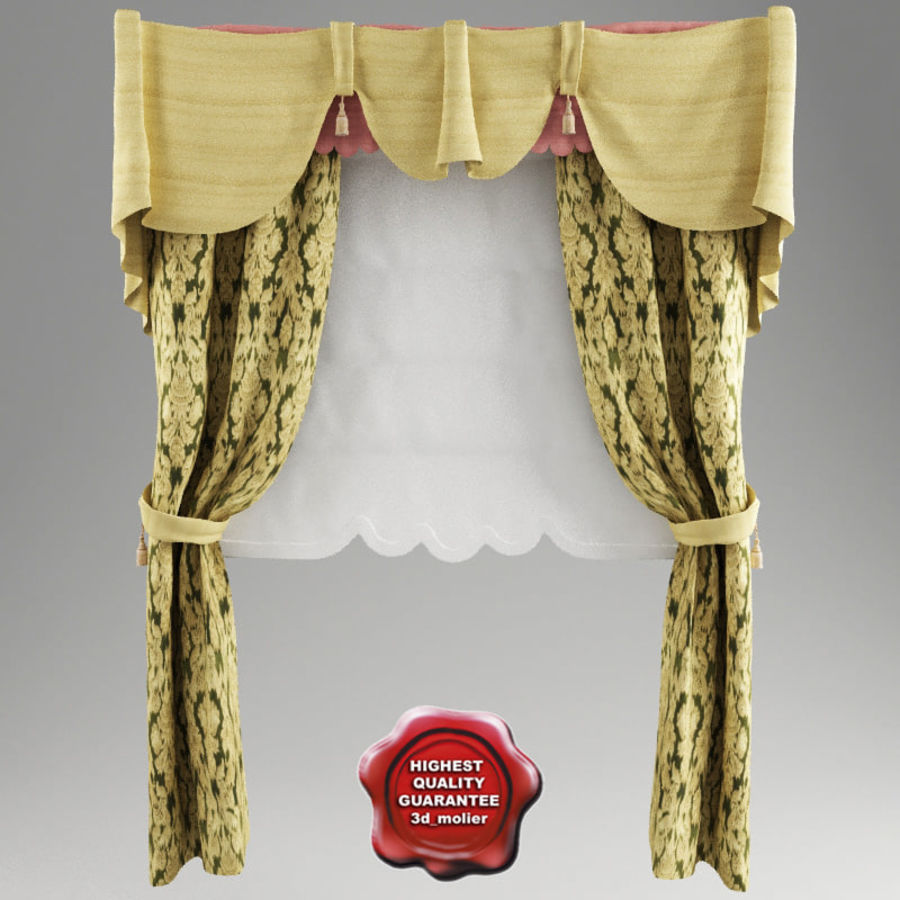 Roman curtain V1 royalty-free 3d model - Preview no. 1