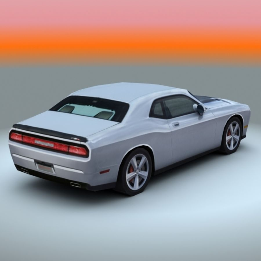 2009 Dodge Challenger SRT8 royalty-free 3d model - Preview no. 2