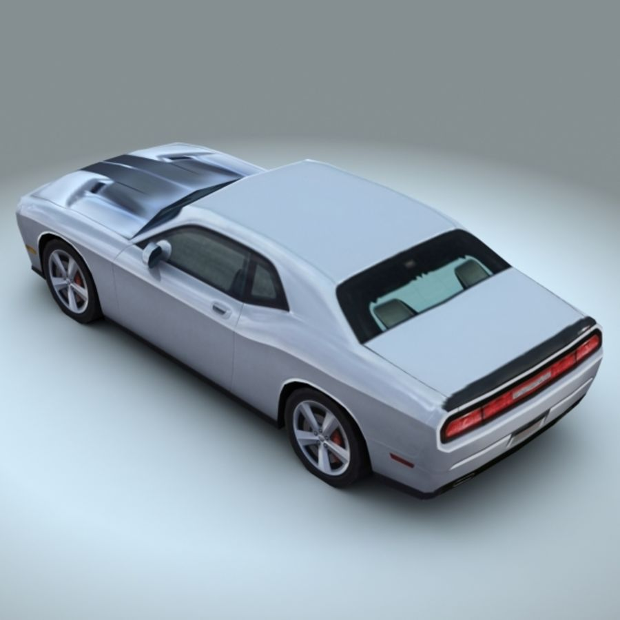 2009 Dodge Challenger SRT8 royalty-free 3d model - Preview no. 3