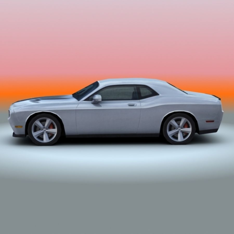 2009 Dodge Challenger SRT8 royalty-free 3d model - Preview no. 4
