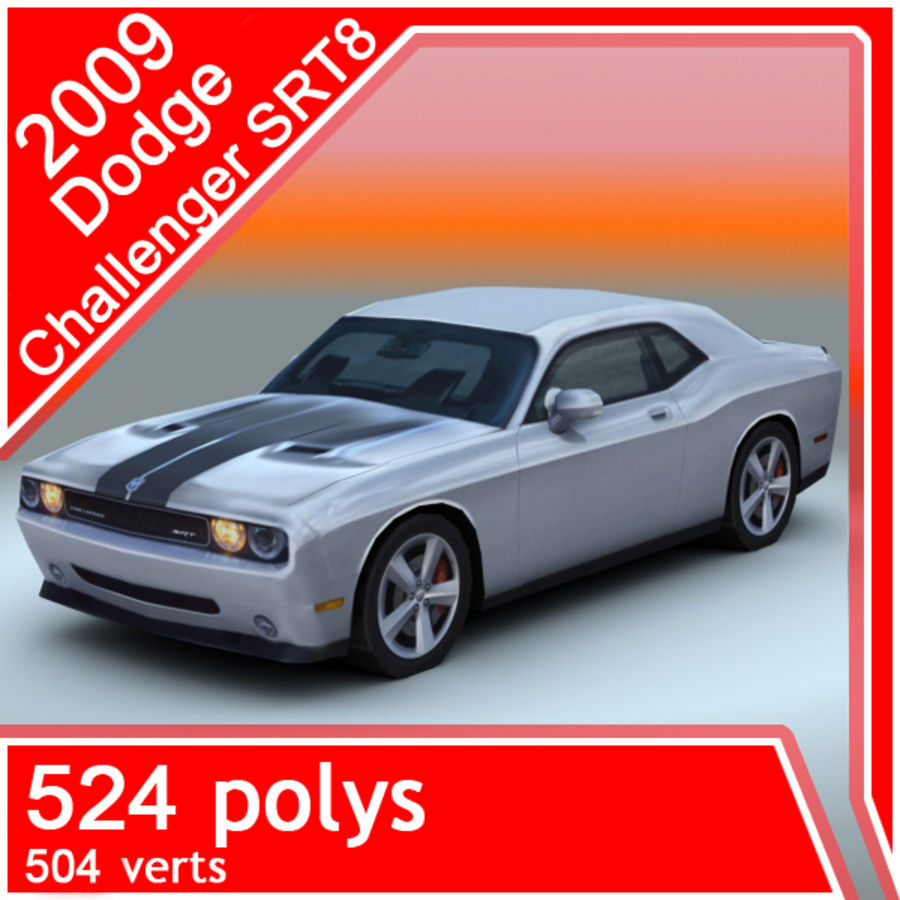 2009 Dodge Challenger SRT8 royalty-free 3d model - Preview no. 1