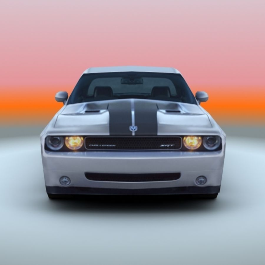 2009 Dodge Challenger SRT8 royalty-free 3d model - Preview no. 5