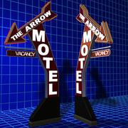Seta, motel, sinal, 01 3d model