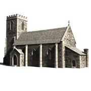 église médiévale 3d model