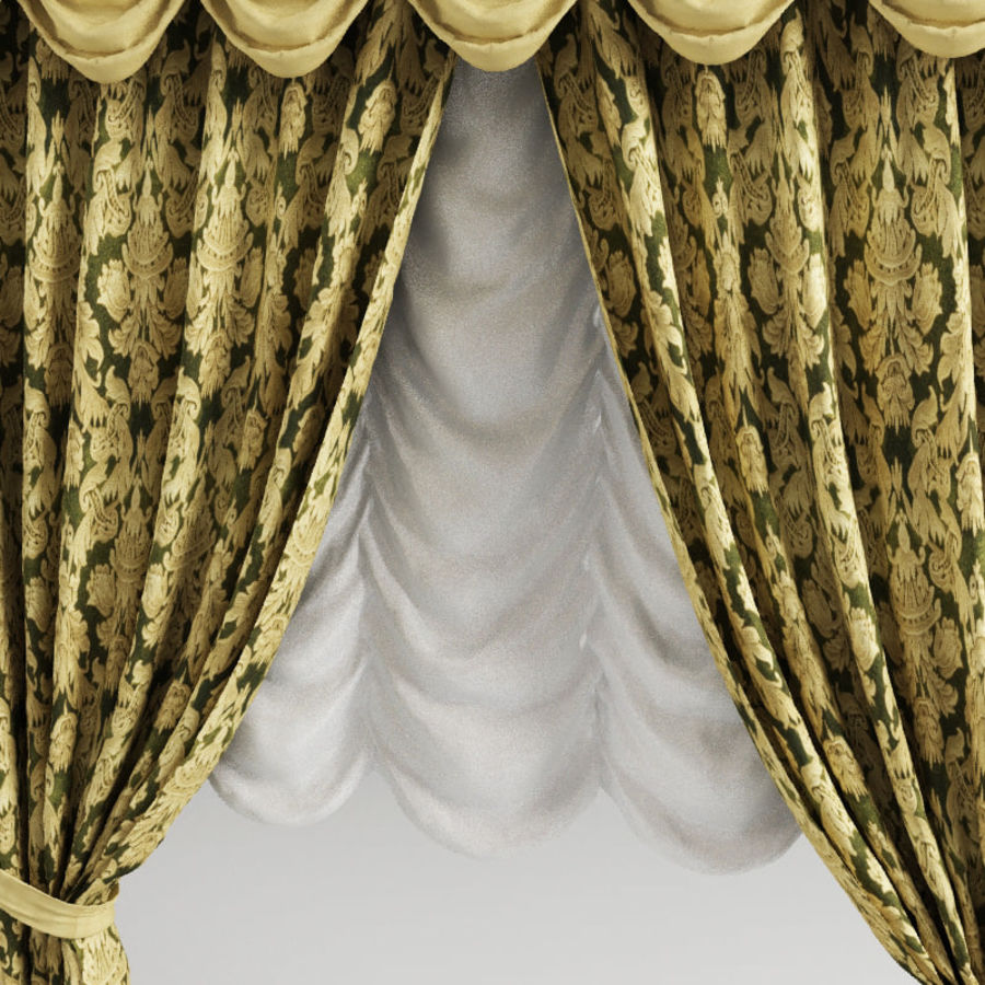 Curtain classic royalty-free 3d model - Preview no. 4