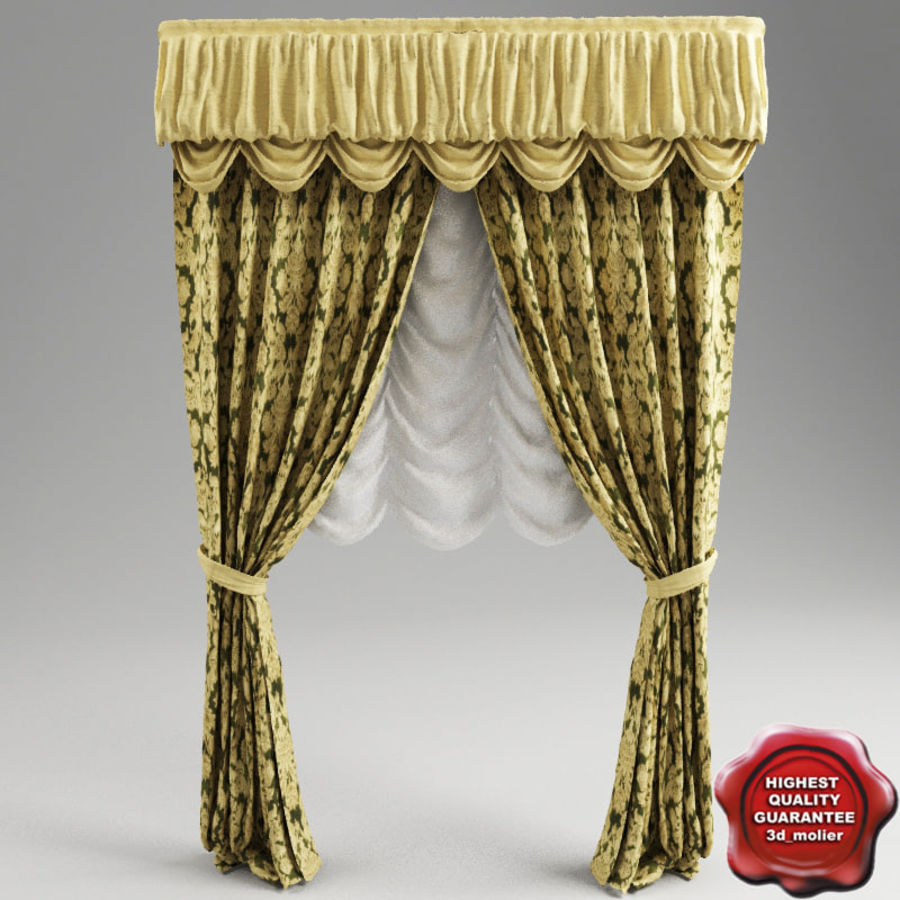Curtain classic royalty-free 3d model - Preview no. 1
