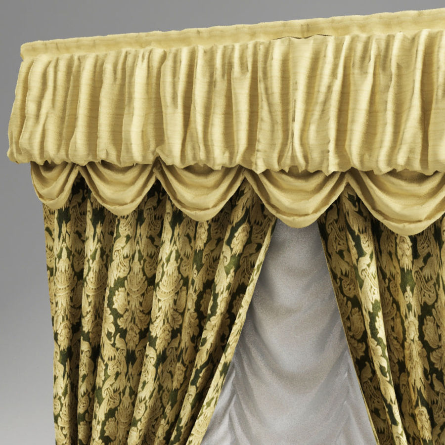 Curtain classic royalty-free 3d model - Preview no. 5