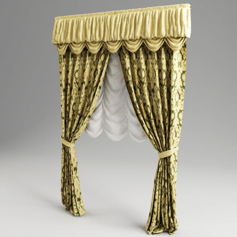 Curtain classic royalty-free 3d model - Preview no. 2
