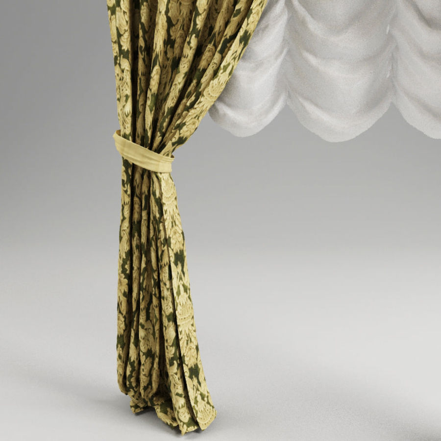 Curtain classic royalty-free 3d model - Preview no. 3