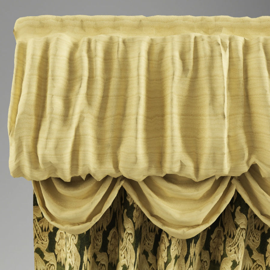Curtain classic royalty-free 3d model - Preview no. 6