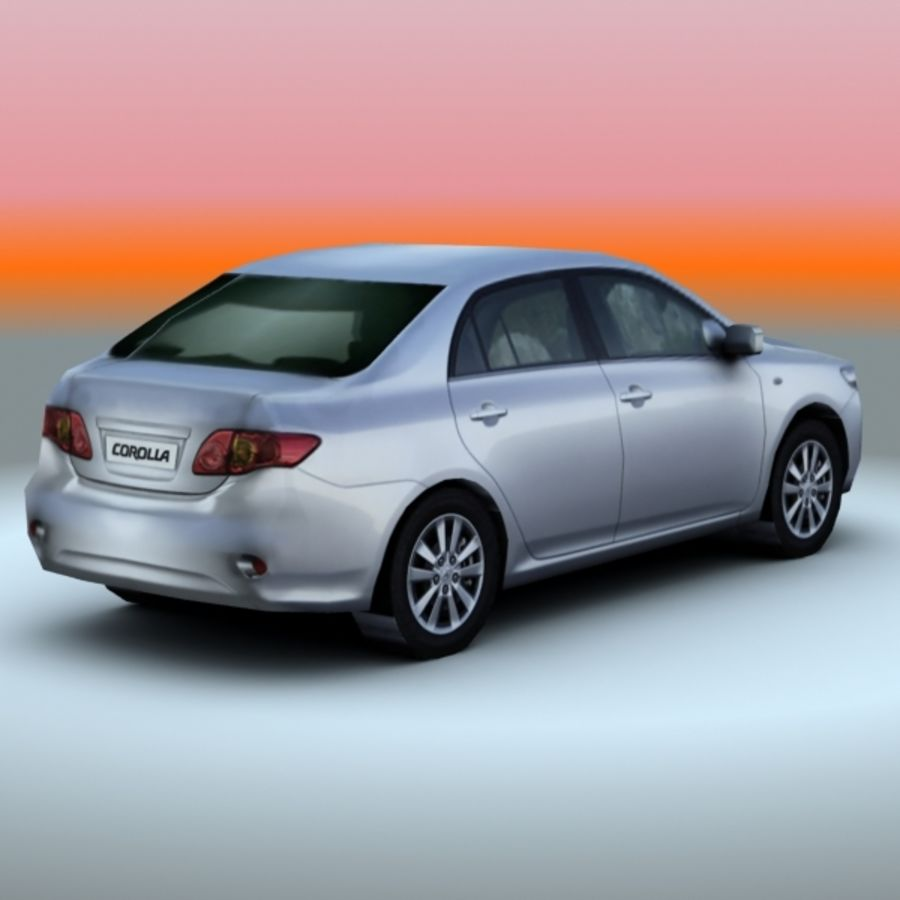 2008 년 도요타 코롤라 royalty-free 3d model - Preview no. 3
