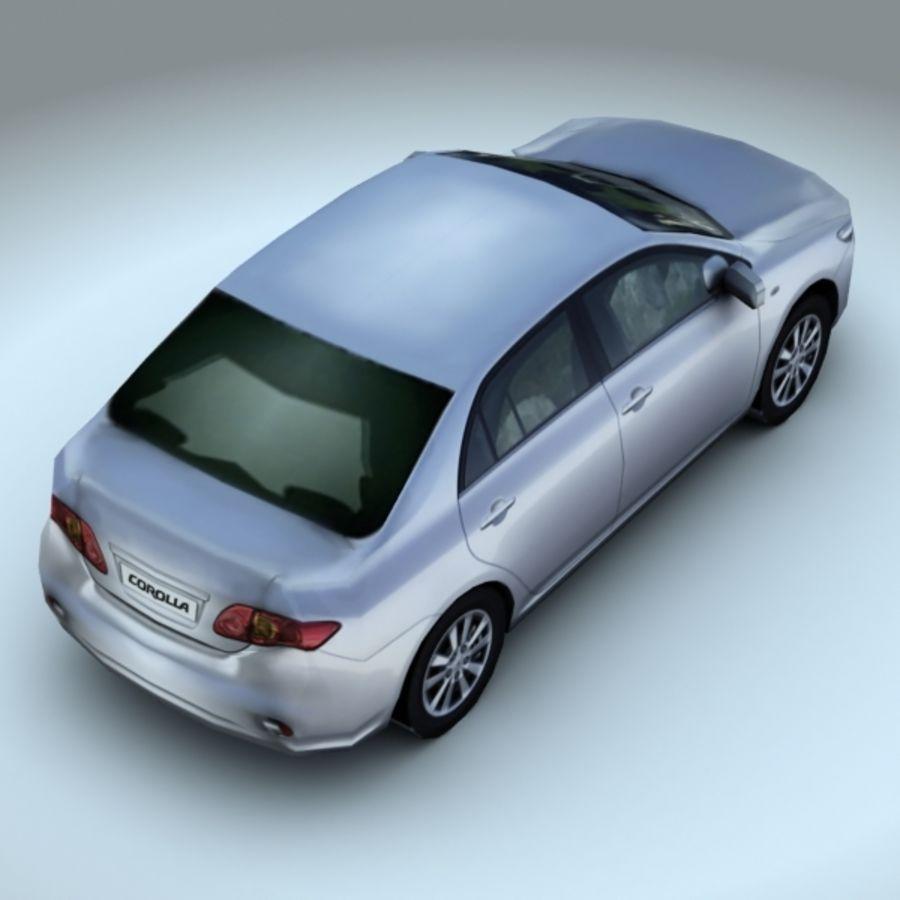 2008 년 도요타 코롤라 royalty-free 3d model - Preview no. 4