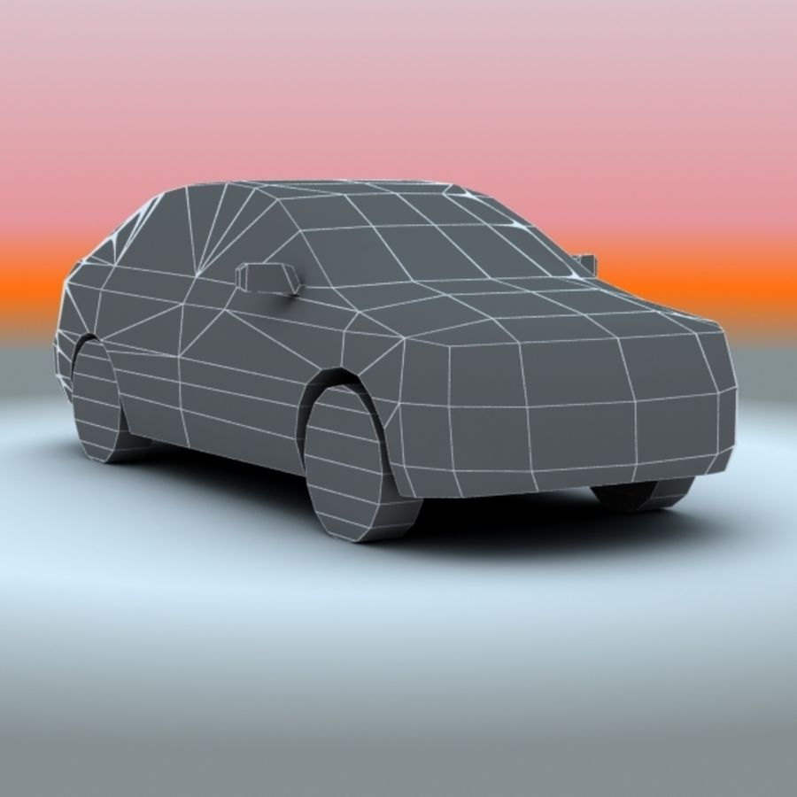 2008 년 도요타 코롤라 royalty-free 3d model - Preview no. 7