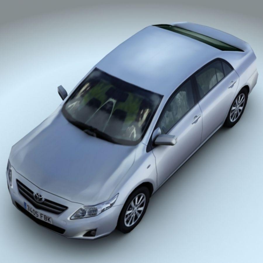 2008 년 도요타 코롤라 royalty-free 3d model - Preview no. 5
