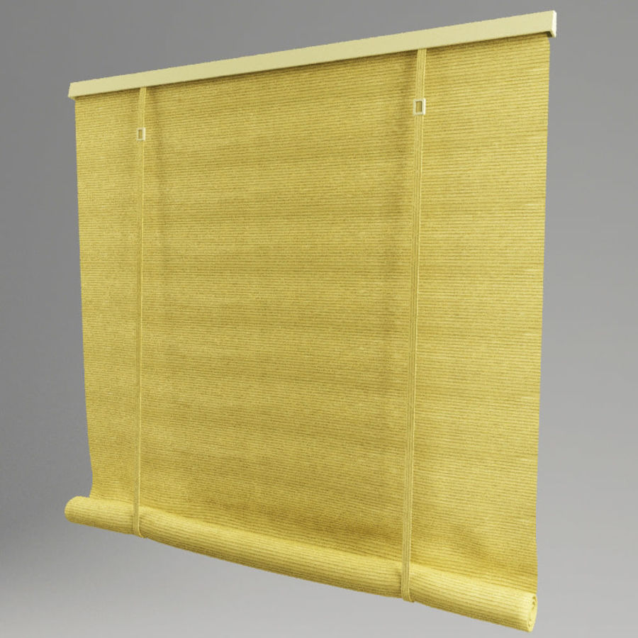 Roll curtain royalty-free 3d model - Preview no. 2